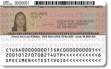 permanent resident card back by by Tucson Arizona Immigration Attorney LawyerJohn Messing