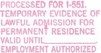 Temporary proof of resident status by Tucson Arizona Immigration Attorney LawyerJohn Messing