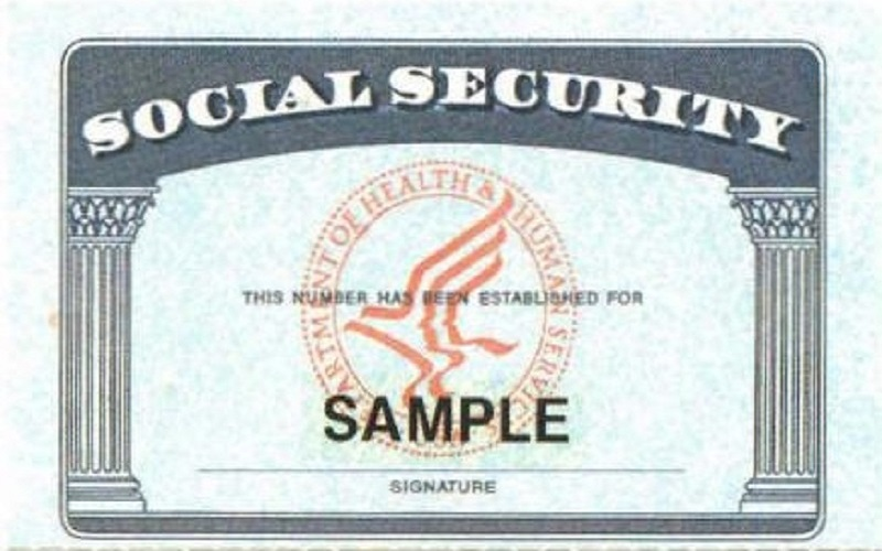 Sample social security card messing tucson immigration for Make a social security card template