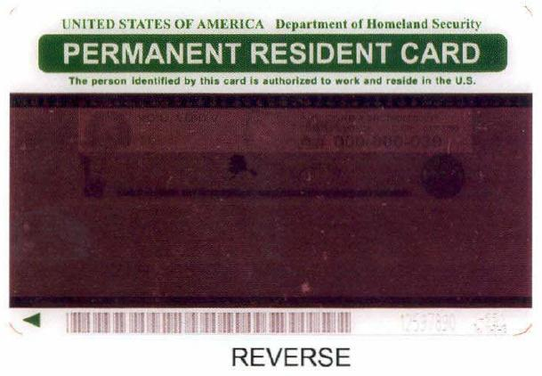 2004 permanent resident card back by Tucson Arizona Immigration Attorney LawyerJohn Messing